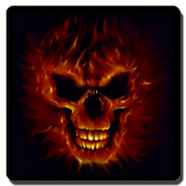 3D Skulls on fire Wallpaper icon