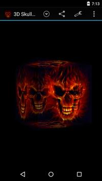 3D Skulls on fire Wallpaper apk screenshot