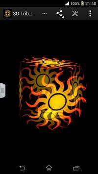 3D Tribal Sun Live Wallpaper poster