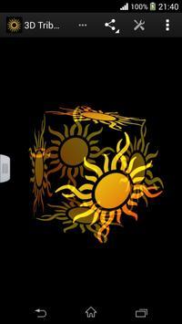 3D Tribal Sun Live Wallpaper apk screenshot