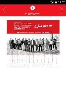 App PSOE Moncofa poster