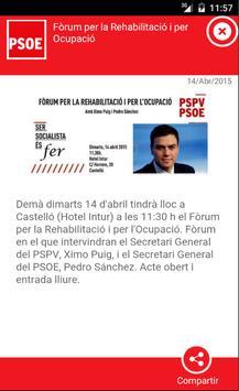 App PSOE Moncofa apk screenshot