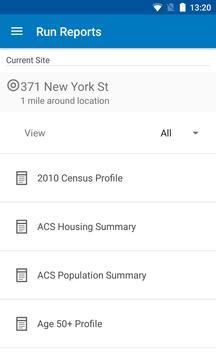 Esri Business Analyst apk screenshot