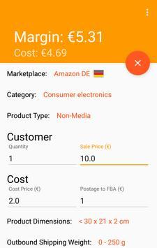 Amazon Margin Calculator apk screenshot