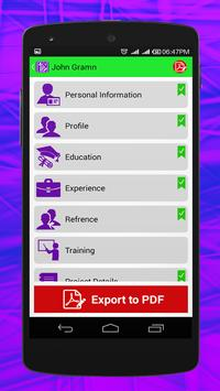 CV Builder apk screenshot
