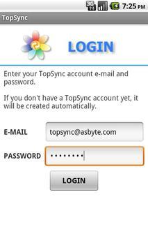 TopSync apk screenshot