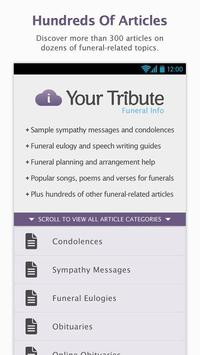Funeral Info - Resources poster