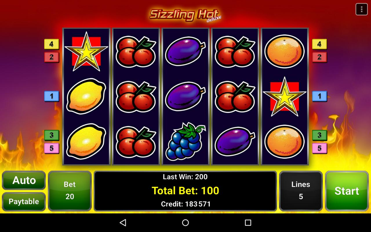 sizzling hot deluxe slot machine download