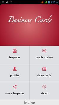 Business Card Designer poster