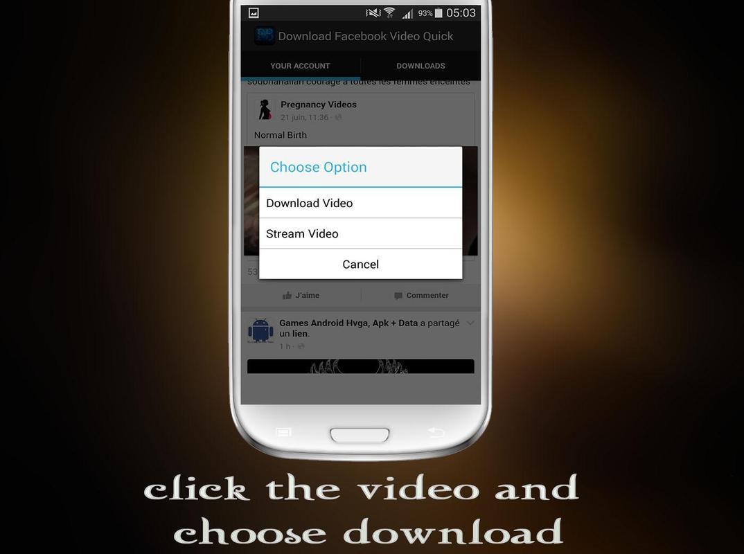 Phone Free Download Facebook App For Android Phone download facebook video quick apk free undefined app screenshot