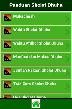 Panduan Sholat Dhuha apk screenshot