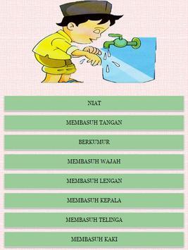 Tata Cara Berwudhu poster