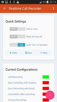 Realtime Call Recorder apk screenshot