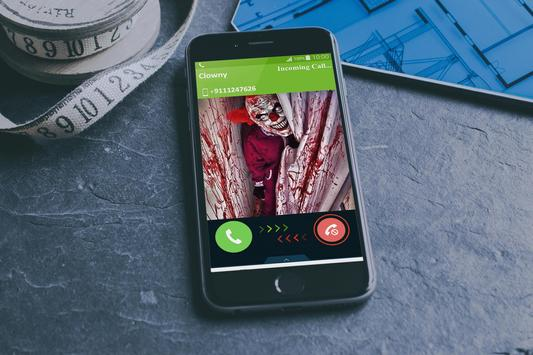 Scary Evil clown fake call 😈 poster