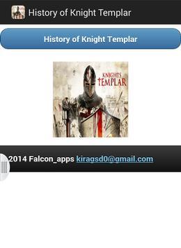 History of Knight Templar poster