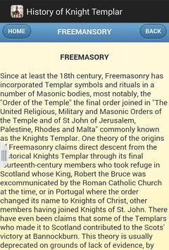 History of Knight Templar apk screenshot