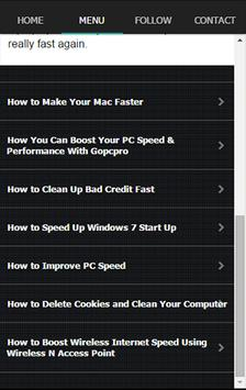 Fast Clean Speed Booster Tip apk screenshot