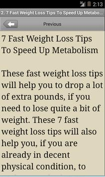 Fast Weight Loss Tips poster