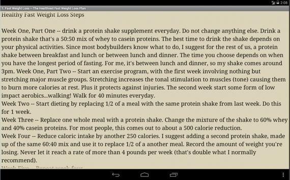 Fast Weight Loss Tips apk screenshot
