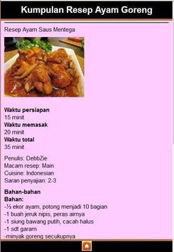 resep masakan ayam apk screenshot