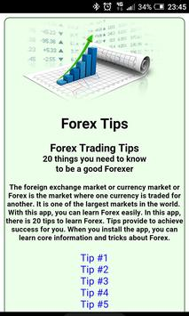 Forex Tips poster