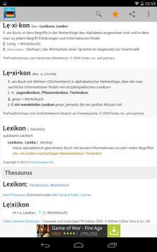 Deutsches Wörterbuch apk screenshot