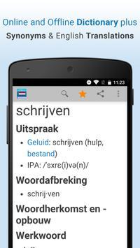 Dutch Dictionary & Thesaurus poster