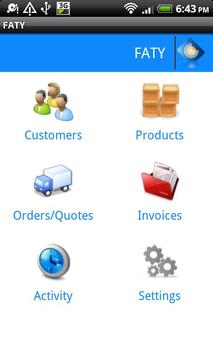 FATY CRM - Invoice Maker Free poster