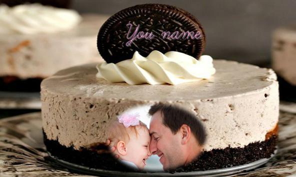 Father's day cake photo frame apk screenshot