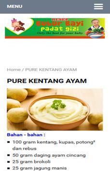 Resep Bubur Bayi poster