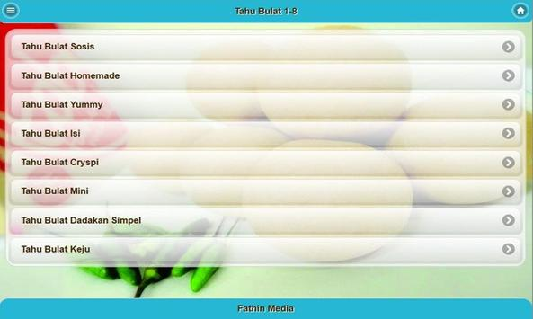 Resep Tahu Bulat apk screenshot