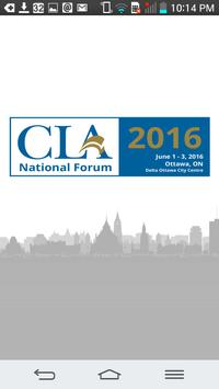 CLA National Forum poster