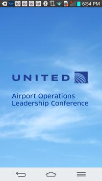 United Airlines Airport Ops poster