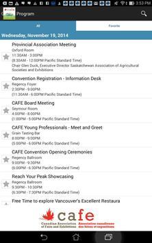 CAFE Convention apk screenshot