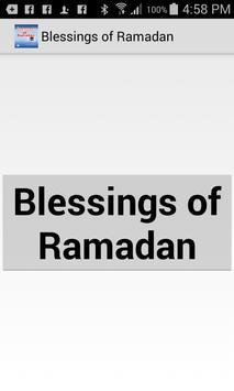 Islamic Blessings of Ramadan poster