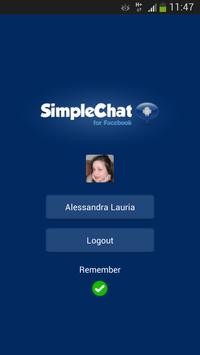 SimpleChat for Facebook (ads) poster