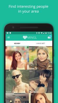 MINGL - Flirt Chat, new people poster