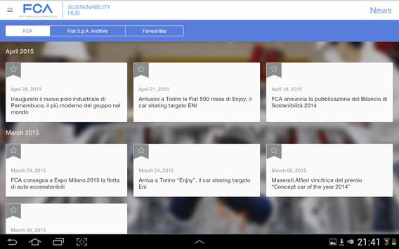 FCA Sustainability App apk screenshot