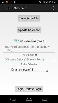 SHC Sears/Kmart work schedule apk screenshot