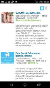Bakıcı ilanları Bakiciilan.com apk screenshot