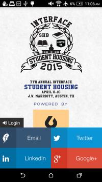 InterFace Student Housing 2015 poster