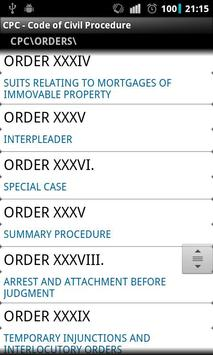 CPC - Code of Civil Procedure apk screenshot