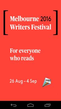 Melbourne Writers Festival poster