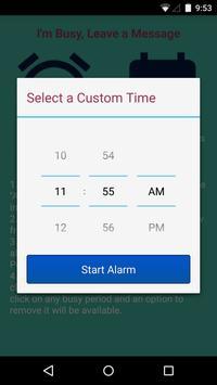 I'm Busy Leave a Message Lite apk screenshot