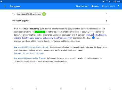 MaaS360 Mail apk screenshot
