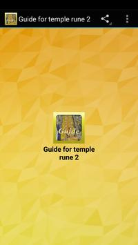 Guide for temple rune 2 poster