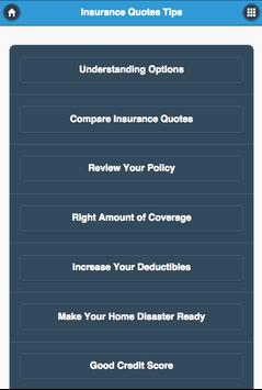 Insurances Quotes Tips poster