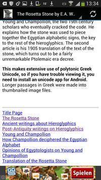 The Rosetta Stone (ebook) apk screenshot