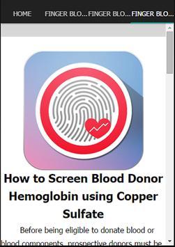 Finger Blood Pressure Checker apk screenshot