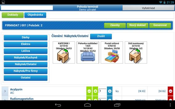 ATEOSYS terminal for Pohoda IS apk screenshot